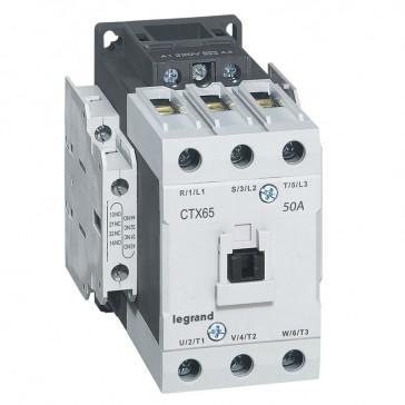 3-pole contactors CTX³ 65 - 50 A 230 V~ - 2 NO + 2 NC - lug terminals
