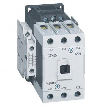 3-pole contactors CTX³ 65 - 65 A - 24 V= - 2 NO + 2 NC - lug terminals