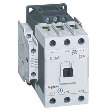 3-pole contactors CTX³ 65 - 65 A - 415 V~ - 2 NO + 2 NC - lug terminals