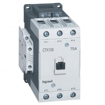 3-pole contactors CTX³ 65 - 75 A - 24 V= - 2 NO + 2 NC - lug terminals