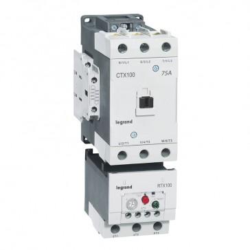 3-pole contactors CTX³ 65 - 100 A 230 V~ - 2 NO + 2 NC - screw terminals