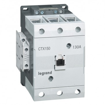3-pole contactors CTX³ 150 - 130 A - 24 V= - 2 NO + 2 NC - screw terminals