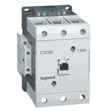 3-pole contactors CTX³ 150 - 130 A -100- 240 V~/= - 2 NO + 2 NC -screw terminals