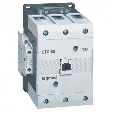 3-pole contactors CTX³ 150 - 130 A - 400-440 V~ - 2 NO + 2 NC - lug terminals