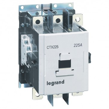 3-pole contactors CTX³ 225 - 225 A - 24 V~/= - 2 NO + 2 NC - screw terminals