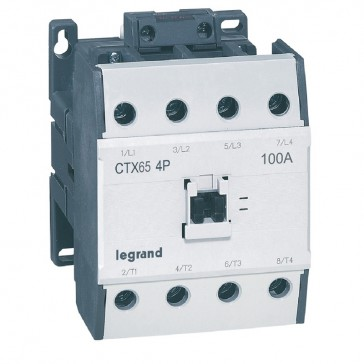 4-pole contactors CTX³ - without auxiliary contact - 100/65 A 230 V~