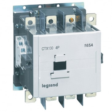 4-pole contactors CTX³ - with auxiliary contact - 165/120 A - 100-240 V~/=
