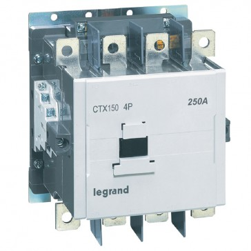 4-pole contactors CTX³ - with auxiliary contact - 250/150 A - 100-240 V~/=