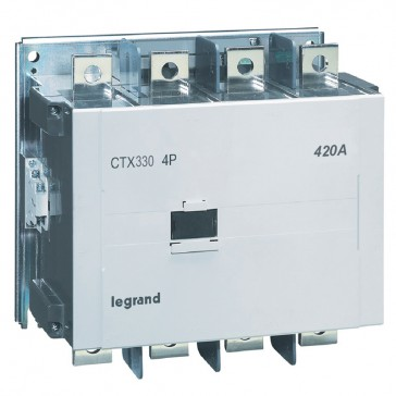 4-pole contactors CTX³ - with auxiliary contact - 420/330 A - 100-240 V~/=