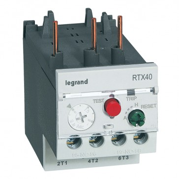 Thermal overload relay RTX³ 40 - 6 to 9 A - for CTX³ 22 and 40 - diff.