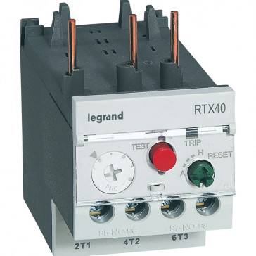 Thermal overload relay RTX³ 40 - 18 to 25 A - for CTX³ 22 and 40 - diff.