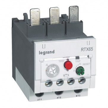 Thermal overload relay RTX³ 65 - 12 to 18 A - for CTX³ 65 - diff.