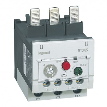 Thermal overload relay RTX³ 65 - 45 to 65 A - for CTX³ 65 - diff.