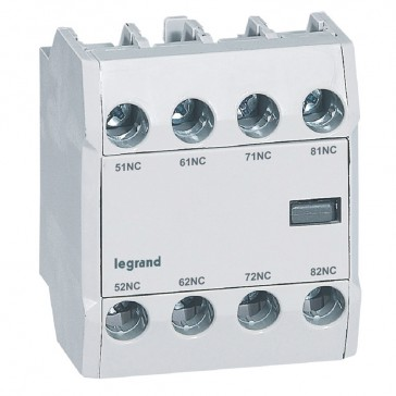 CTX³ add-on aux. contact - for CTX³ 22/40/65/100/150 - 4 NC - Front mounting