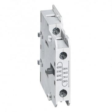 CTX³ add-on aux. contact -for CTX³ 22/40/65/100/150 - 1 NO + 1 NC -side mounting