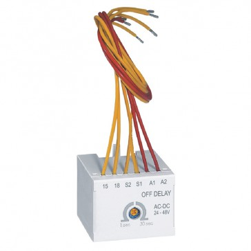 CTX³ time delay block - for CTX³ 22/40/65/100/150 - off delay - 24-48 V~/=