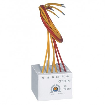 CTX³ time delay block - for CTX³ 22/40/65/100/150 - off delay - 110-230 V~/=