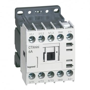 3-pole mini contactors CTX³ - 6 A (AC3) - 24 V= - 1 NO - screw terminals