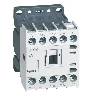 3-pole mini contactors CTX³ - 6 A (AC3) - 24 V= - 1 NC - screw terminals