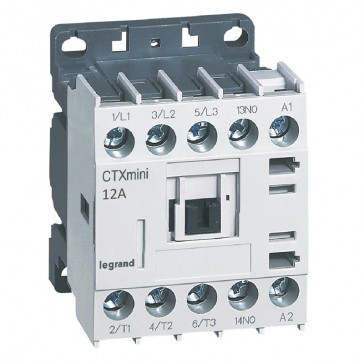 3-pole mini contactors CTX³ - 12 A (AC3) - 110 V~ - 1 NO - screw terminals