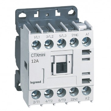 3-pole mini contactors CTX³ - 12 A (AC3) - 415 V~ - 1 NC - screw terminals