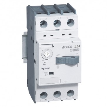 MPCB MPX³ 32S - thermal magnetic - motor protection - 3P - 1.6 A - 100 kA