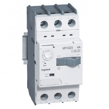 MPCB MPX³ 32S - thermal magnetic - motor protection - 3P - 4 A - 100 kA