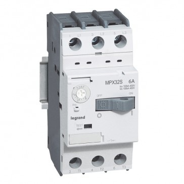 MPCB MPX³ 32S - thermal magnetic - motor protection - 3P - 6 A - 100 kA