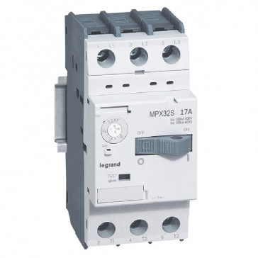 MPCB MPX³ 32S - thermal magnetic - motor protection - 3P - 17 A - 20 kA