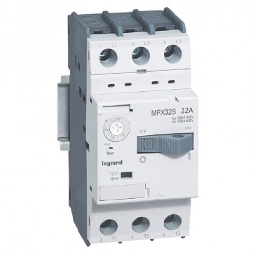 MPCB MPX³ 32S - thermal magnetic - motor protection - 3P - 22 A - 15 kA