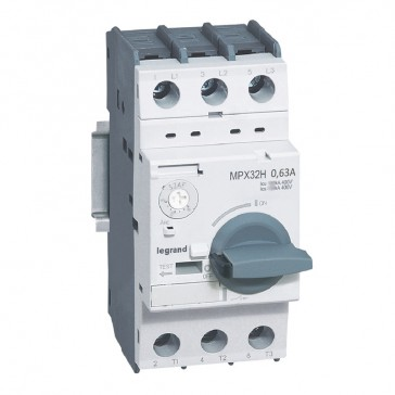 MPCB MPX³ 32H - thermal magnetic - motor protection - 3P - 0.63 A - 100 kA
