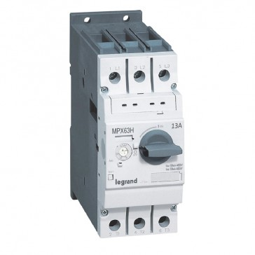 MPCB MPX³ 63H - thermal magnetic - motor protection - 3P - 13 A - 100 kA