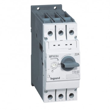 MPCB MPX³ 63H - thermal magnetic - motor protection - 3P - 22 A - 50 kA