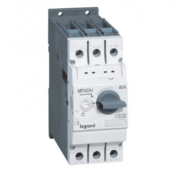 MPCB MPX³ 63H - thermal magnetic - motor protection - 3P - 40 A - 50 kA