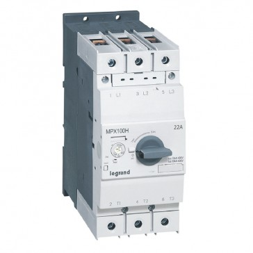 MPCB MPX³ 100H - thermal magnetic - motor protection - 3P - 22 A - 100 kA