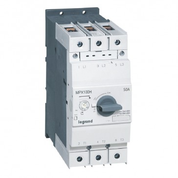 MPCB MPX³ 100H - thermal magnetic - motor protection - 3P - 50 A - 100 kA