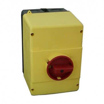 Enclosures for MPX³ 32H and 32 mA - IP65 - With yellow/red rotary handle
