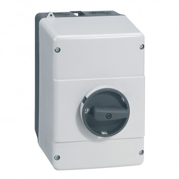Enclosures for MPX³ 32H and 32 mA - IP65 - With black rotary handle