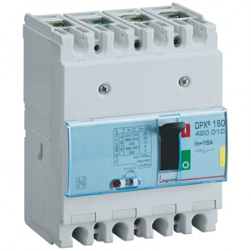 MCCB thermal magnetic - DPX³ 160 - Icu 16 kA 400 V~ - 4P - 16 A