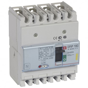 MCCB thermal magnetic - DPX³ 160 - Icu 16 kA 400 V~ - 4P - 25 A