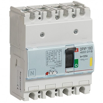 MCCB thermal magnetic - DPX³ 160 - Icu 16 kA 400 V~ - 4P - 125 A