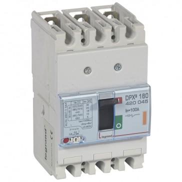 MCCB thermal magnetic - DPX³ 160 - Icu 25 kA 400 V~ - 3P - 100 A