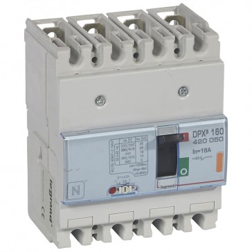 MCCB thermal magnetic - DPX³ 160 - Icu 25 kA 400 V~ - 4P - 16 A