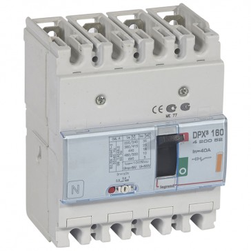 MCCB thermal magnetic - DPX³ 160 - Icu 25 kA 400 V~ - 4P - 40 A
