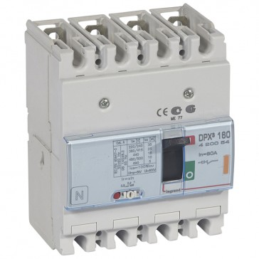 MCCB thermal magnetic - DPX³ 160 - Icu 25 kA 400 V~ - 4P - 80 A
