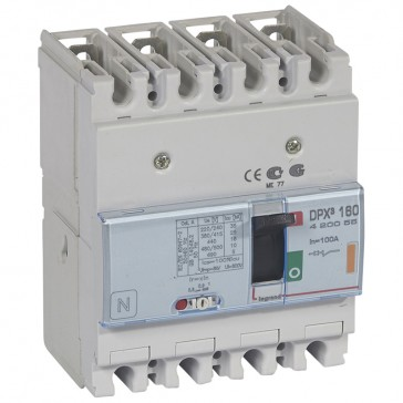MCCB thermal magnetic - DPX³ 160 - Icu 25 kA 400 V~ - 4P - 100 A