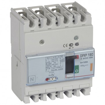 MCCB thermal magnetic - DPX³ 160 - Icu 25 kA 400 V~ - 4P - 125 A
