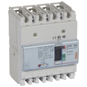 MCCB thermal magnetic - DPX³ 160 - Icu 25 kA 400 V~ - 4P - 160 A