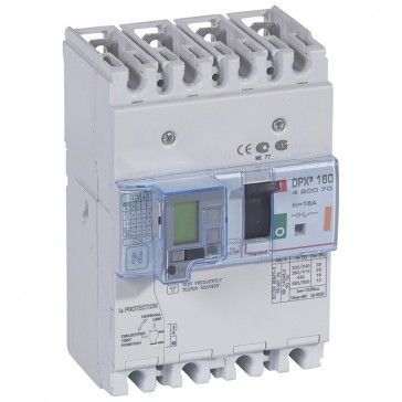 MCCB thermal magnetic with e.l.c.bs - DPX³ 160 - Icu 25 kA 400 V~ - 4P - 16 A