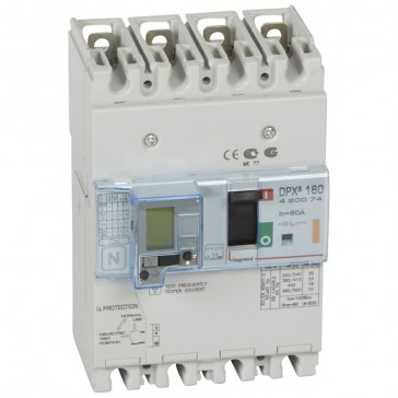 MCCB thermal magnetic with e.l.c.bs - DPX³ 160 - Icu 25 kA 400 V~ - 4P - 80 A